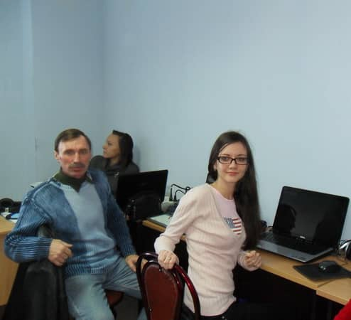 Вадим на работе в бизнес-центре