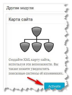 активация карты сайта