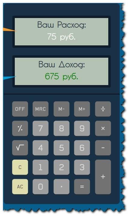 калькулятор доходности