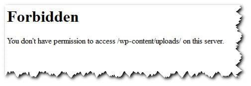 вид ошибки 403 для сервера Apache