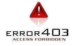 ошибка 403 forbidden