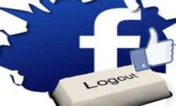 как выйти из Фейсбука