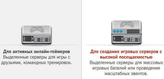 типы серверов под задачи пользователей