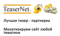 обзор сервиса teasernet.com