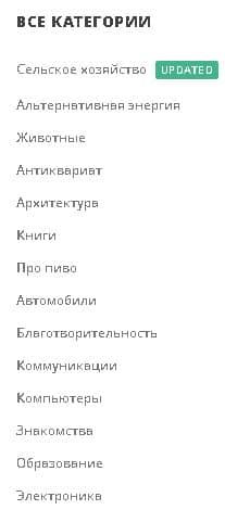 категории шаблонов
