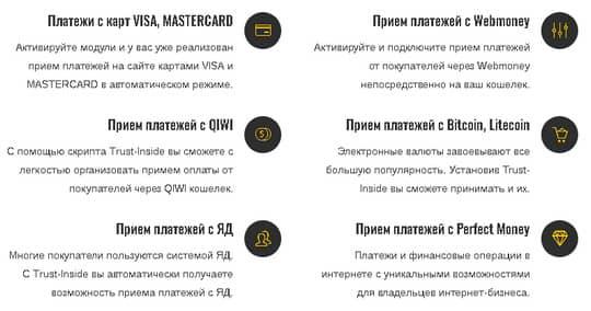 список платежных систем