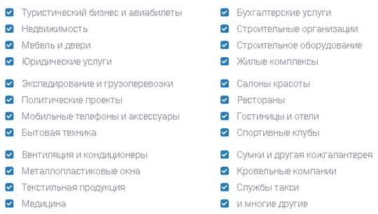 ниши сайтов
