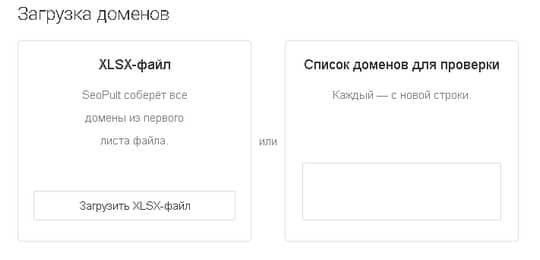 загрузка доменов для проверки