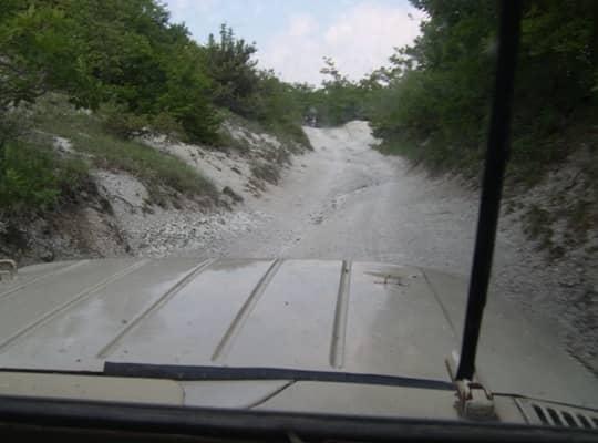 Путь на вершину горы Мангуп