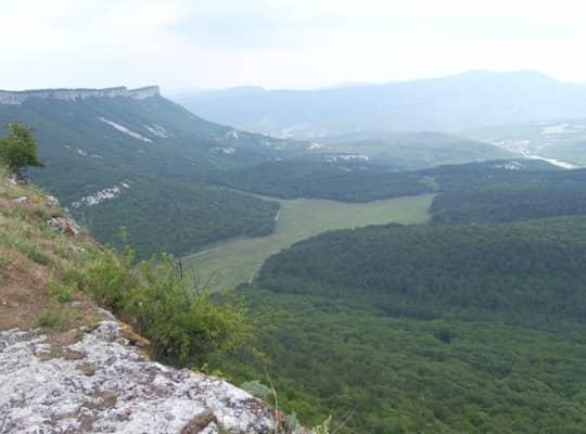 Вид с горы Мангуп