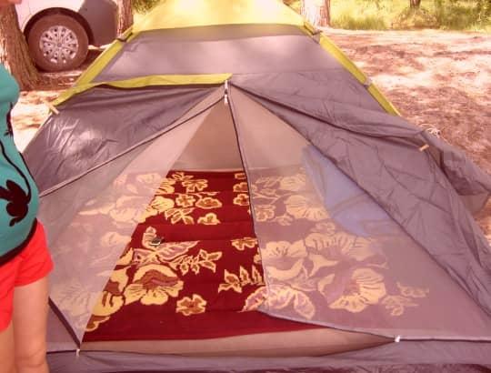палатка готова к использованию