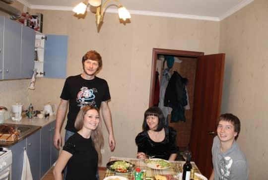 Вадим на кухне
