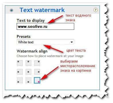 текстовый водяной знак