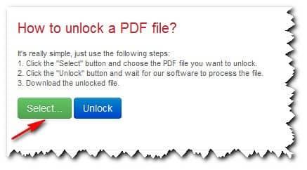 снятие защиты с файла с помощью сервиса thepdf.com