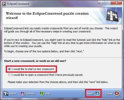 установка программы EclipseCrossword