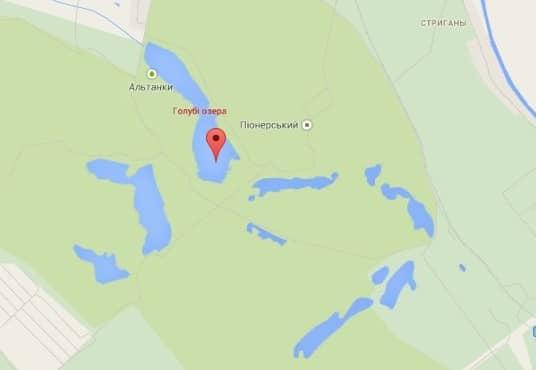 местоположение Голубого озера