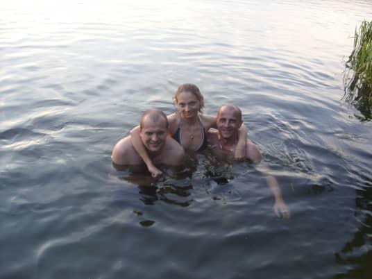 вечернее купание