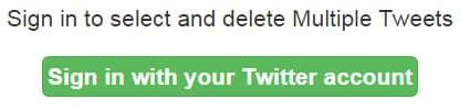 сервис Delete Multiple Tweets