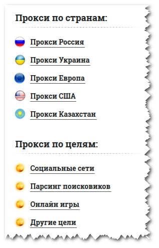 разные типы прокси-серверов