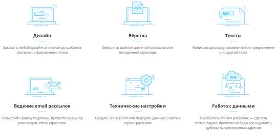 возможности сервиса EmailMarket