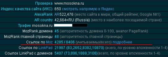 2-е место в выдаче Яндекса